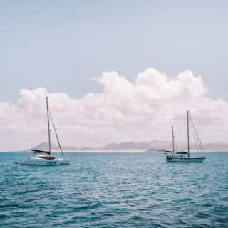 ⛵️The sound waves and the wind in our sails. Just calmly floating over the turquoise Atlantic in the Canaries. .  It was a very special day last week on the Katamaran.  . With the first steps into the harbor our mood changed. Spending time on the ocean is a gift. A precious one.  .  More pictures of that to come. 🧡 .  #wavesnbackpack #canaries #fuerteventura #boattrip #canariesislands #ilescanaries #fuerteventuraisland #travelstoke #wonderlustspain #travelspain #spainlovers #spaintrip #traveltagged #topspainphoto #liveforthestory #spain_gems  ⠀⠀⠀⠀⠀⠀⠀⠀⠀ ⠀⠀⠀⠀⠀⠀⠀⠀⠀